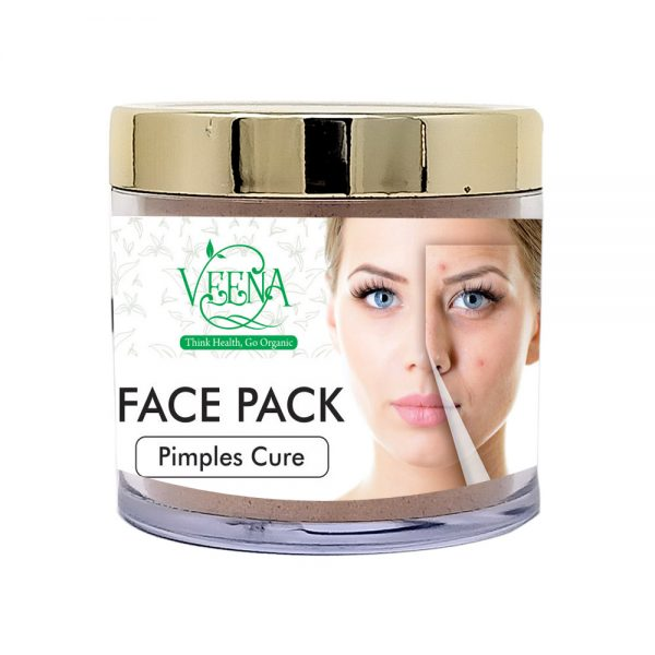 Pimples Cure Face Pack Powder Organic Veena Organic Products